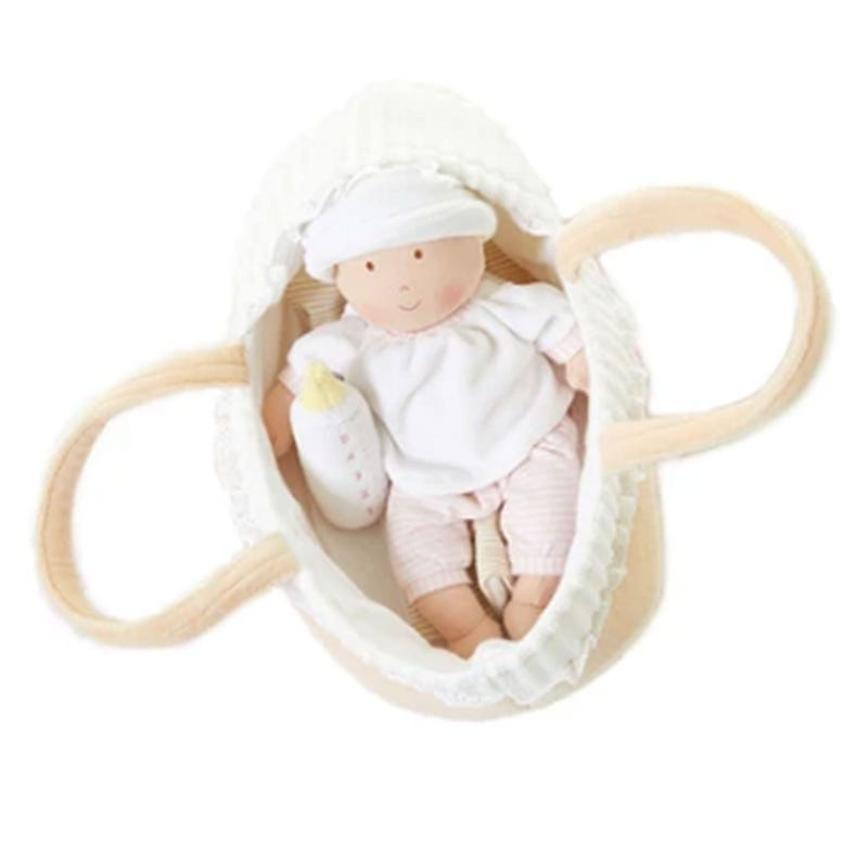 Baby Soft Doll With Carry Cot and Blanket - Grace