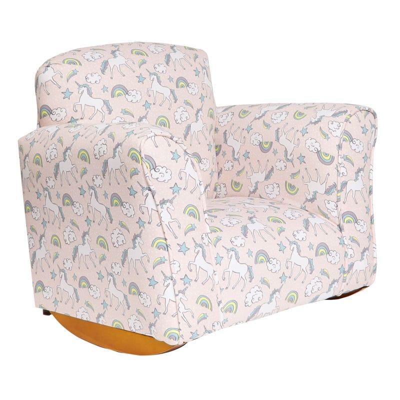 Rocking Armchair Unicorn Blush