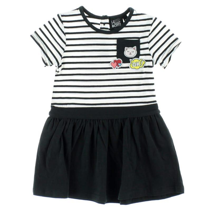 Monaco Striped Dress 3-24m