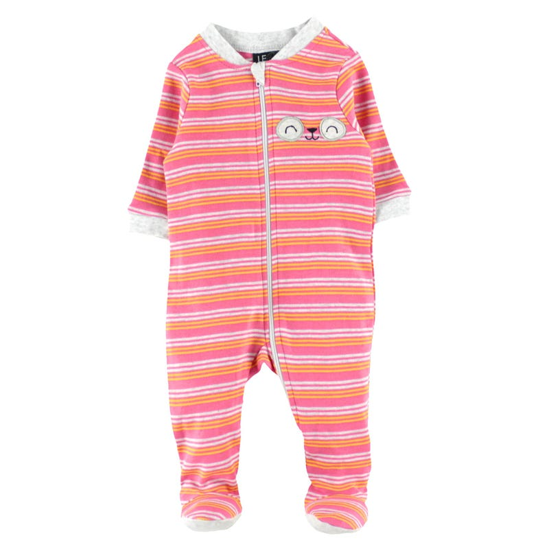 Striped Panda Pajamas 0-30m