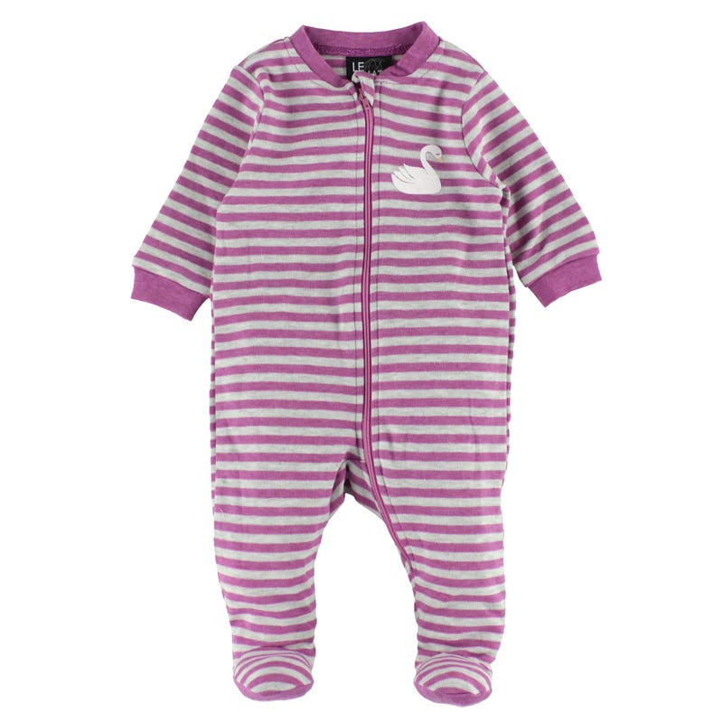 Swan Striped Pajamas 0-30m