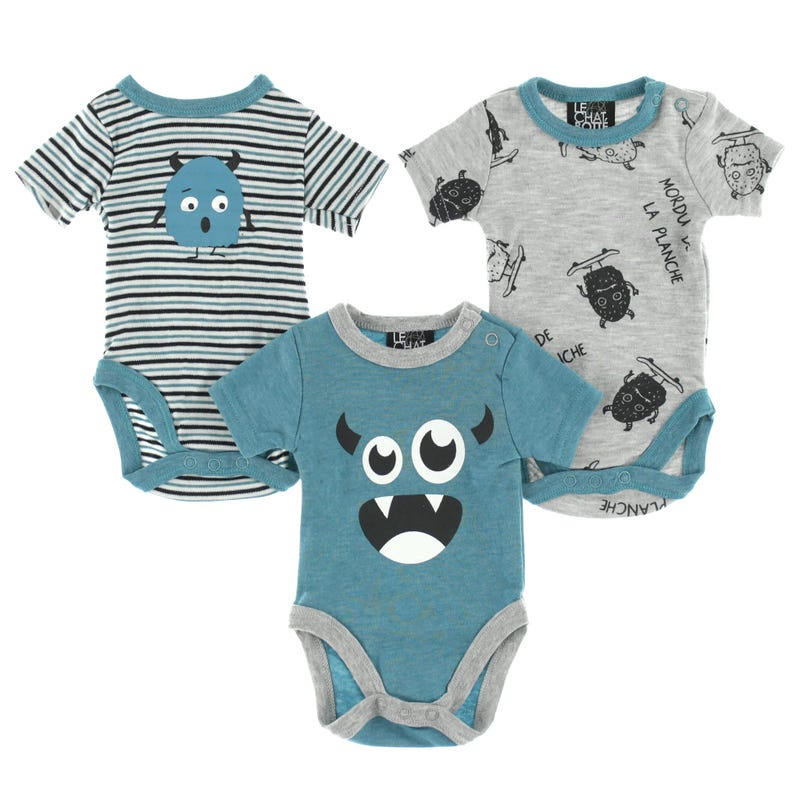 Monster Bodysuits Set 0-30m
