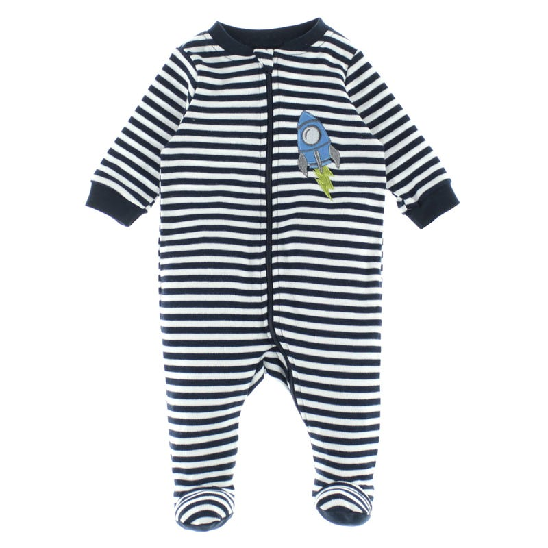 Rocket Striped Pajamas 0-30m
