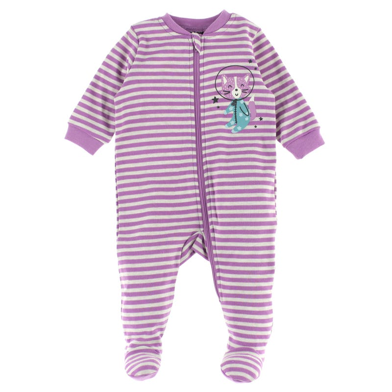 Cats Striped Pajamas 0-30m