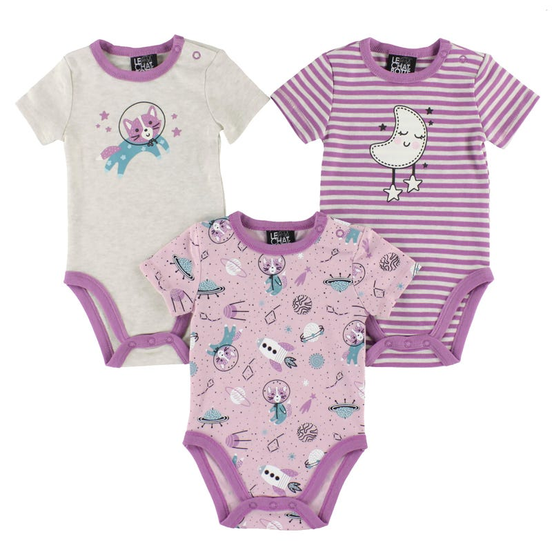 Cats Bodysuits Set 0-30m