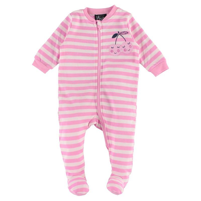 Striped Cherries Pajamas 0-30m