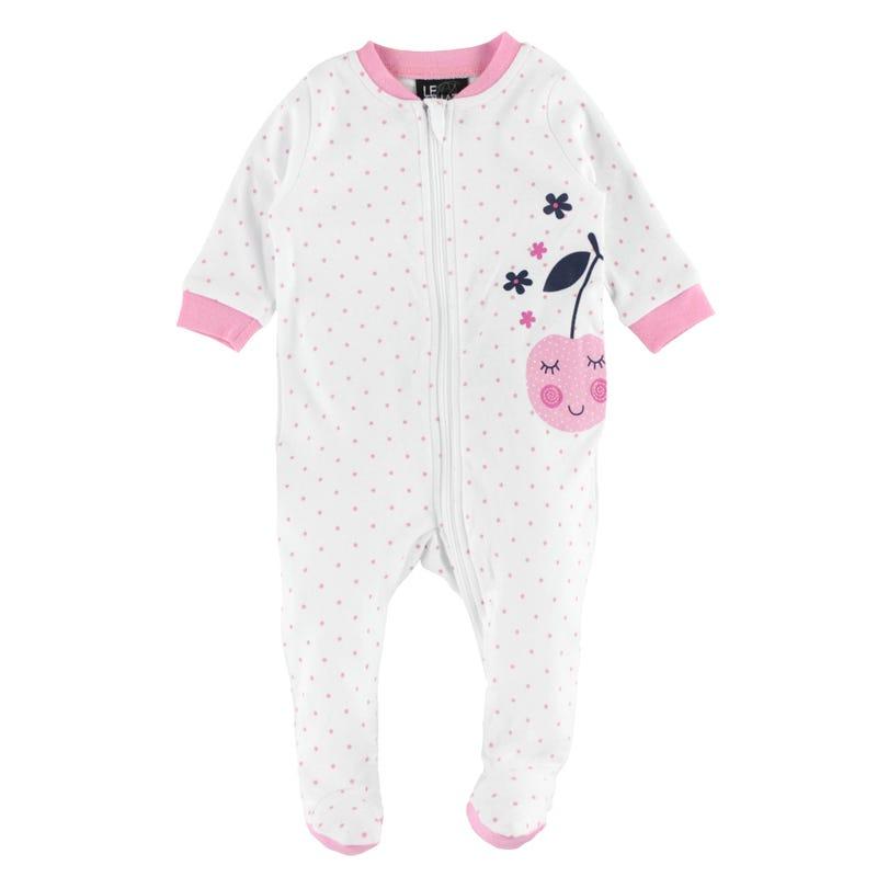 Dots Cherries Pajamas 0-30m