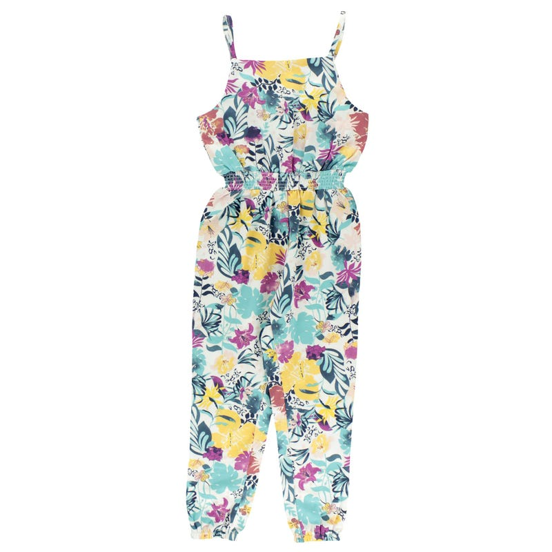 Vacation Flower Jumpsuit 2-8y