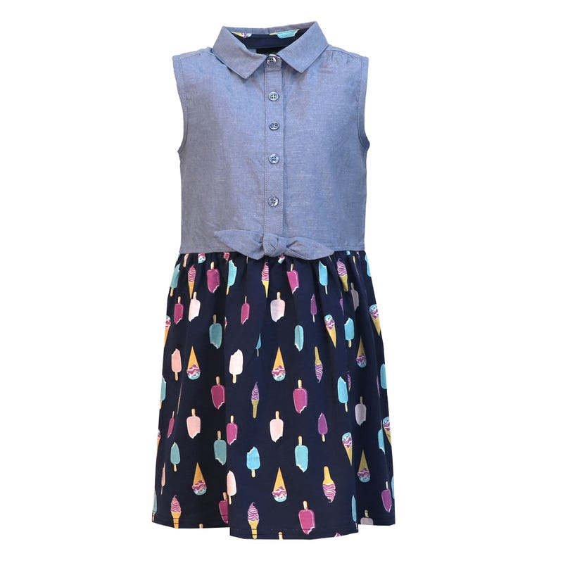 Vacation Ice Cream Knot Dress 2-8y