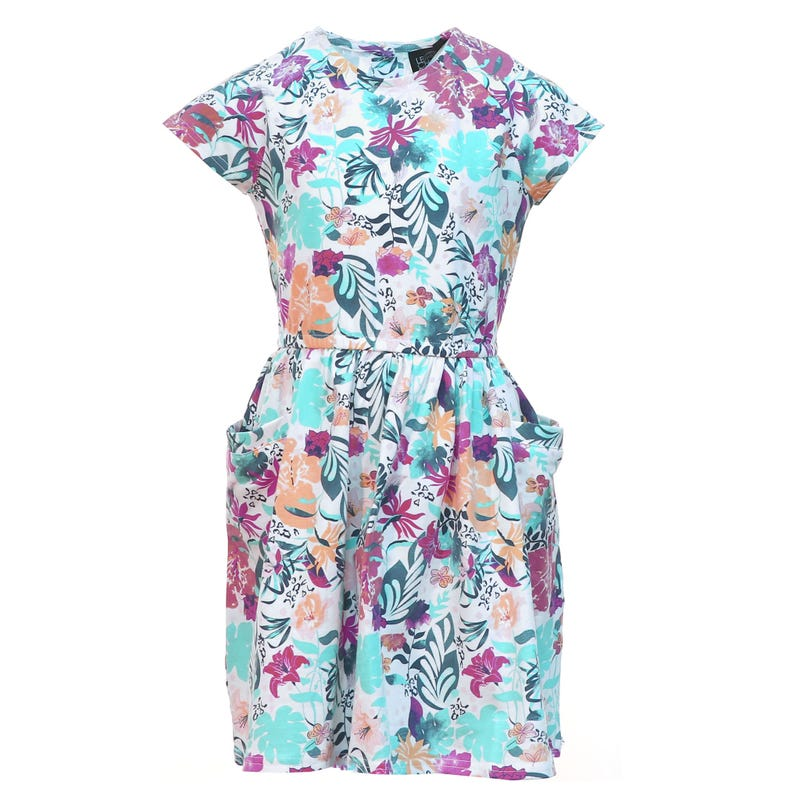 Vacation Flower Dress 2-8y