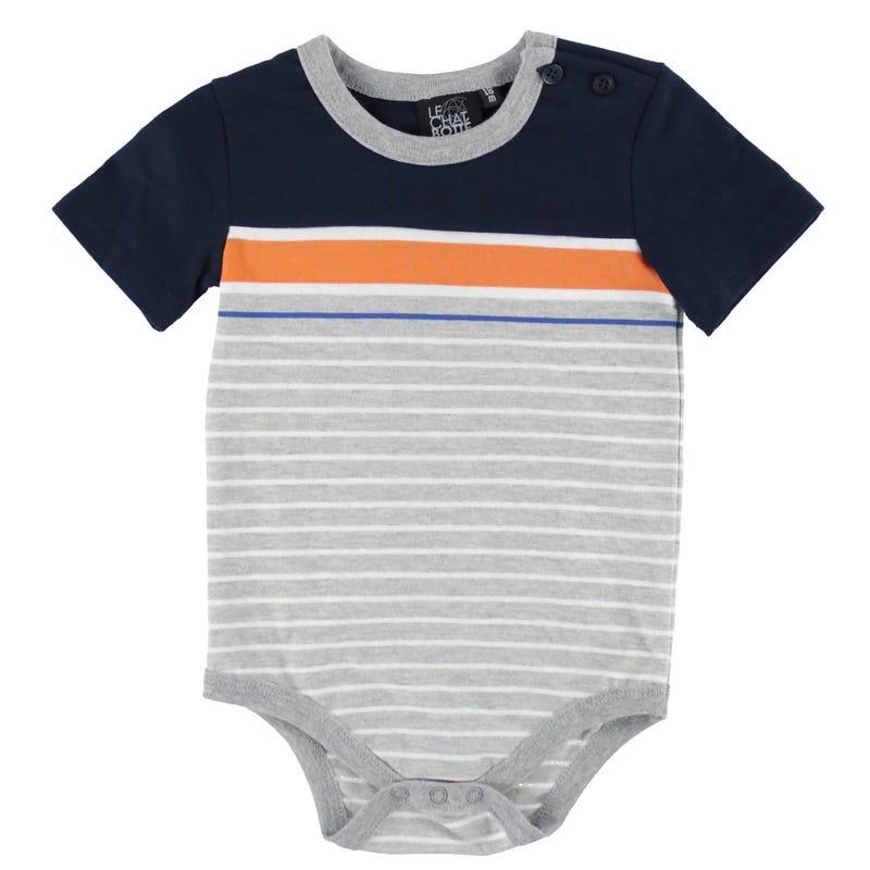Ocean Striped 1pc T-Shirt 3-24