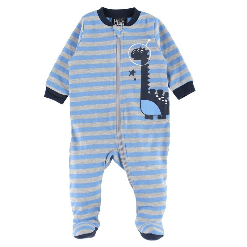 Striped Dinosaurs Pajamas 0-30m