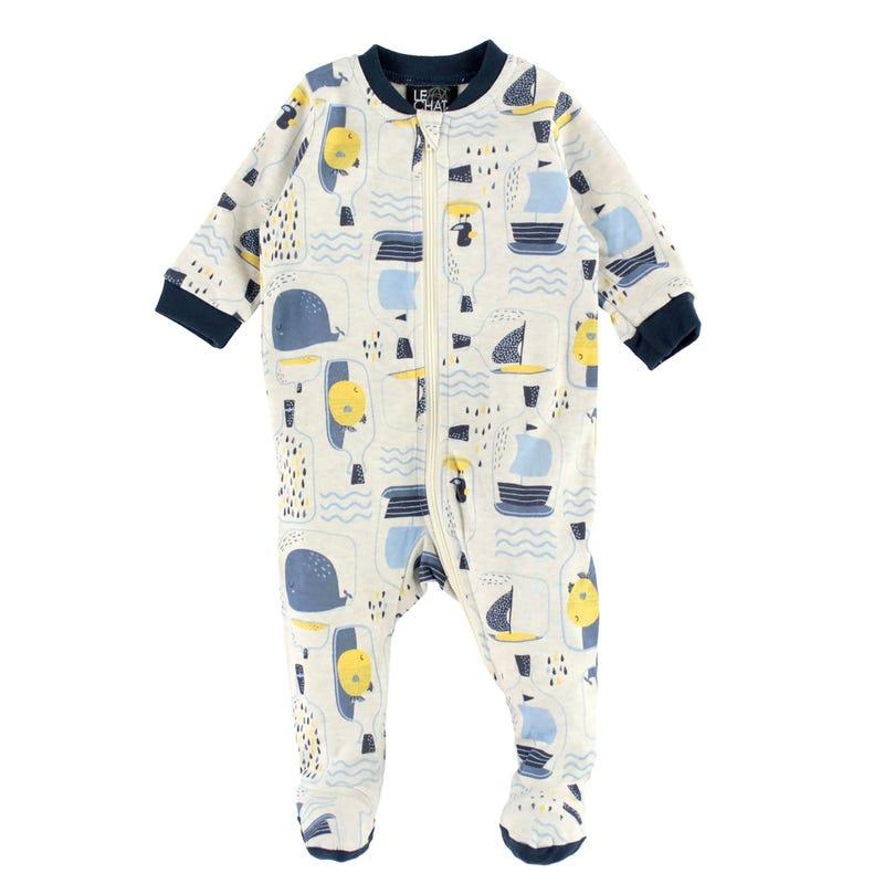 Sea Printed Pajamas 0-30m