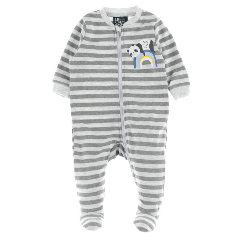 Panda Striped Pajamas 0-30m