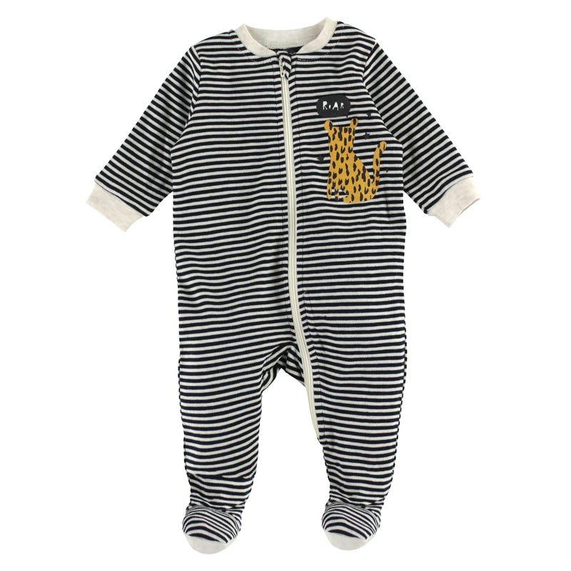 Striped Leopard Pajamas 0-30m