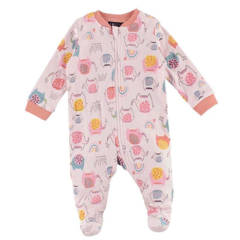 Pyjama Imprimé Éléphant 0-30mois