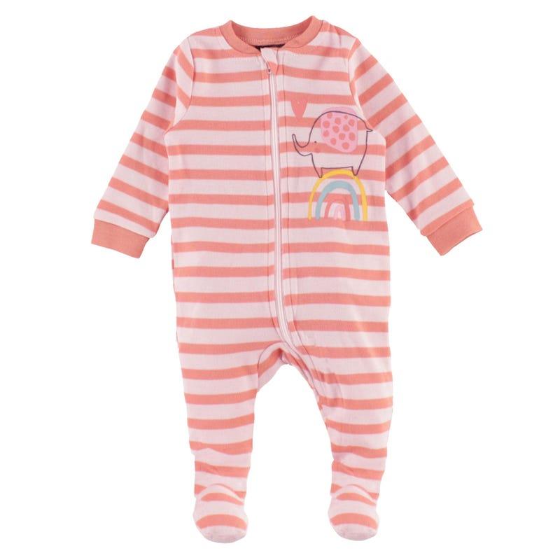 Elephant Striped Pajamas 0-30m