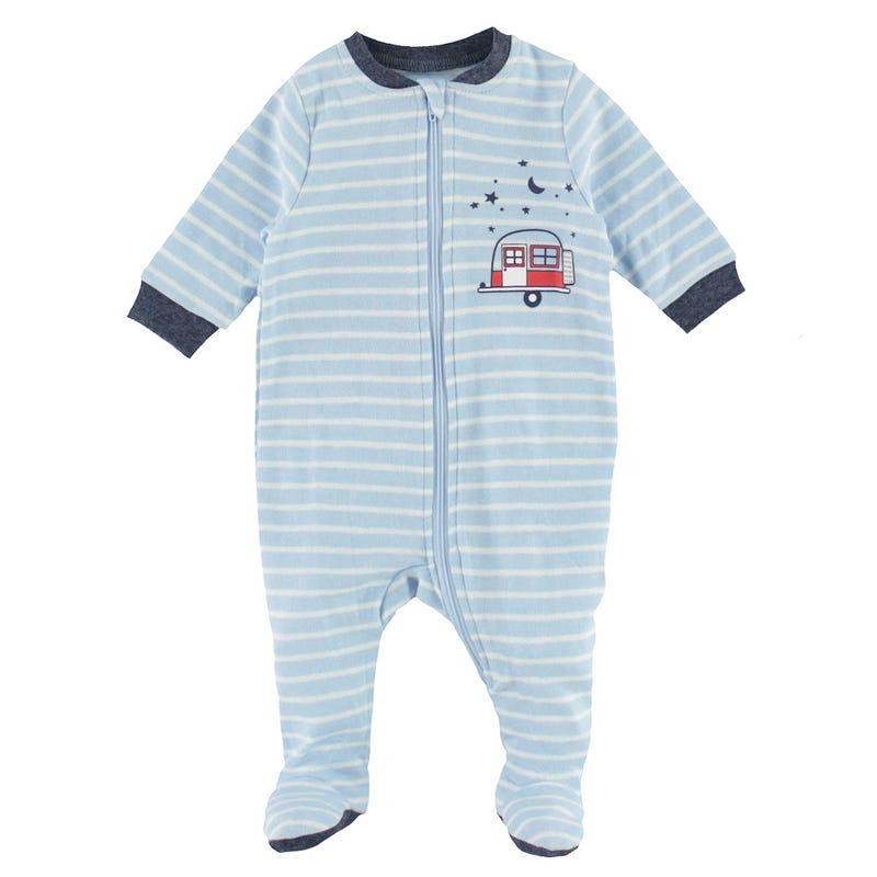 Pyjama Rayé Roulotte 0-30mois