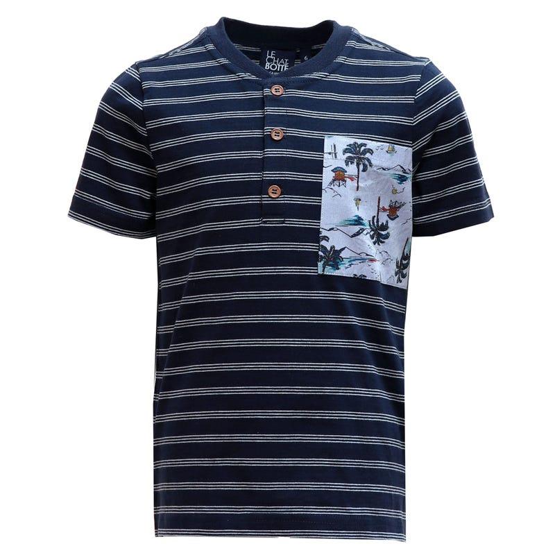T-Shirt Henley Jungle 2-8ans