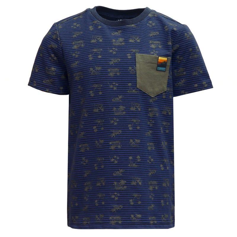 T-Shirt Rayé Jungle 2-8ans