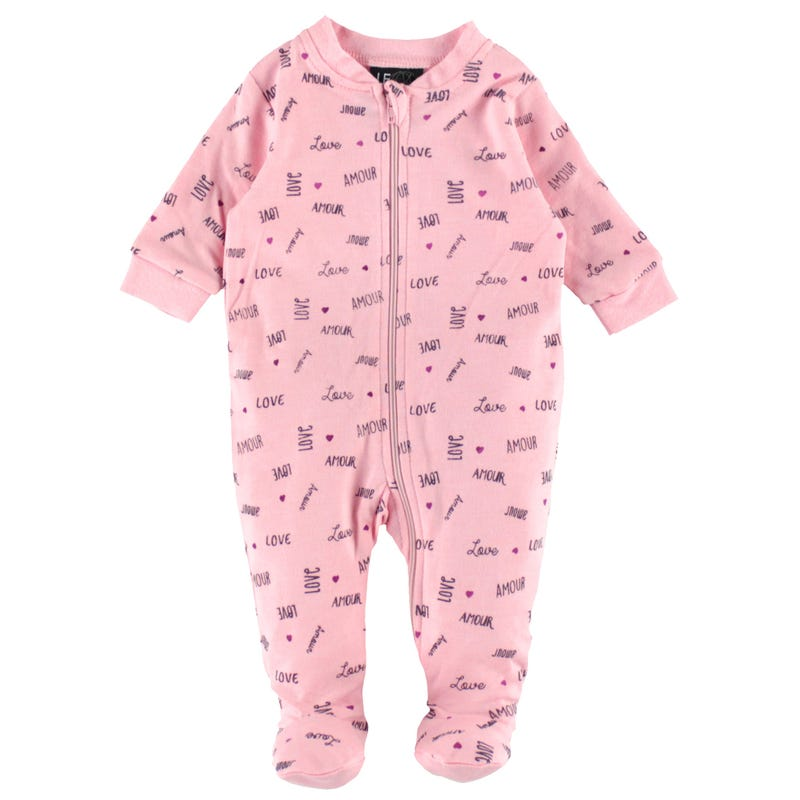 Love Printed Pajamas 0-30m