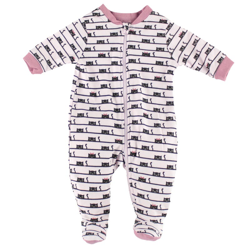 Small Cat Printed Pajamas0-30m