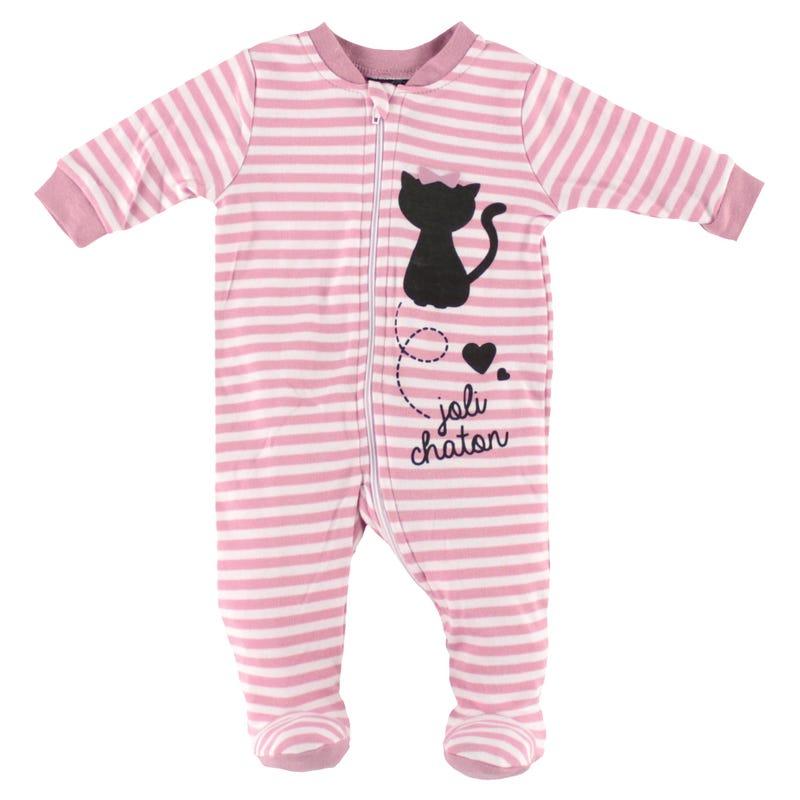 Pyjama Raye Petit Chat 0-30m