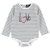 T-Shirt à Manches Longues 1 Pièce Coeur 3-24mois