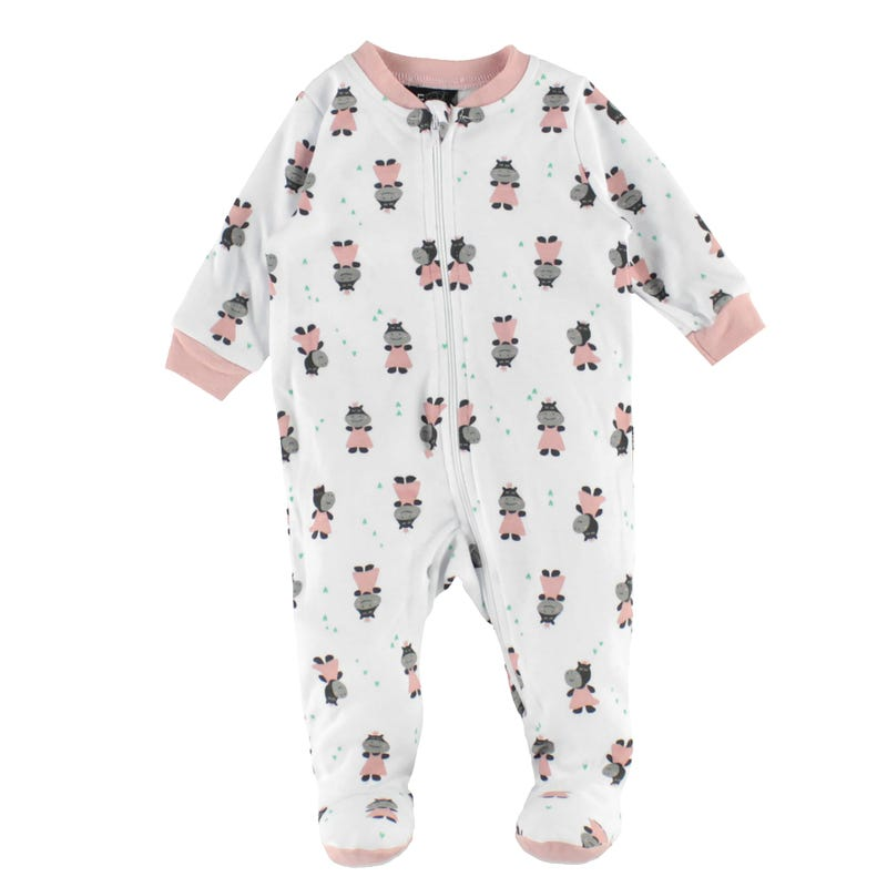 Hippo Printed Pajamas 0-30m