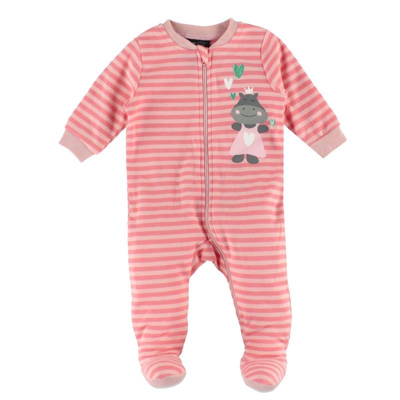 Hippo Stripes Pajamas 0-30m