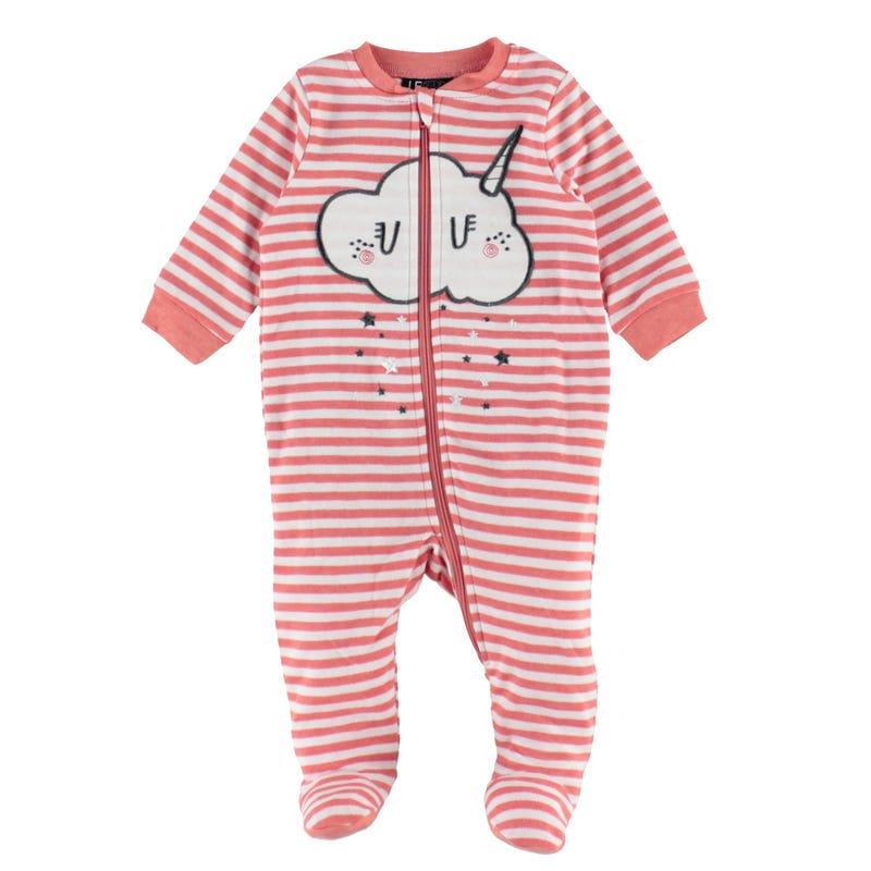 Caticorn Striped Pajamas 0-30m