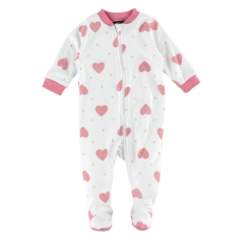 Heart Printed Pajamas 0-30m
