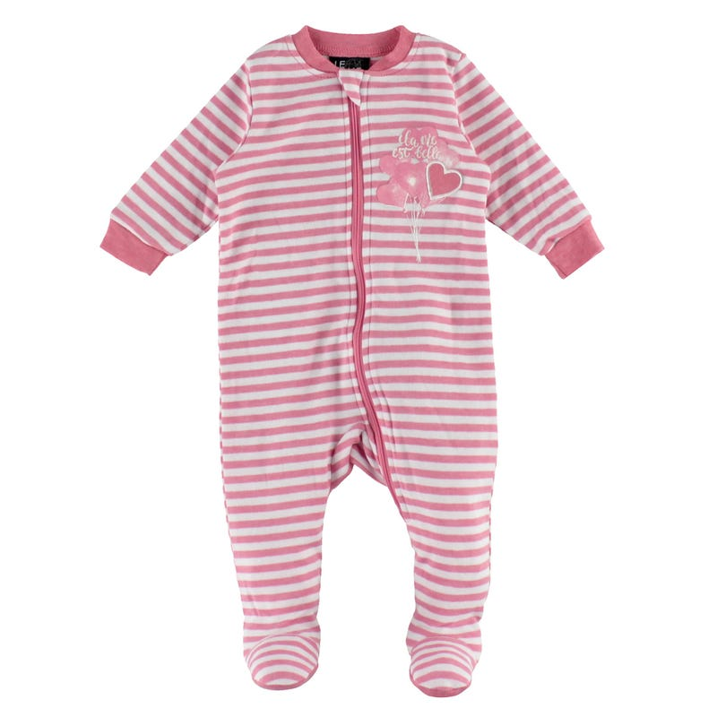 Heart Striped Pajamas 0-30m