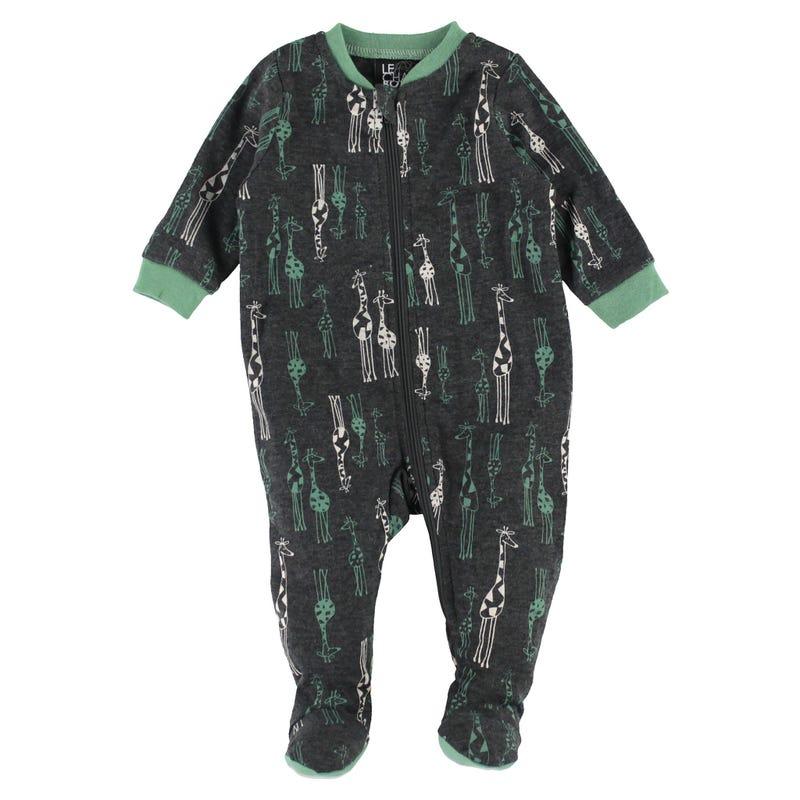 Giraffe Printed Pajamas 0-30m