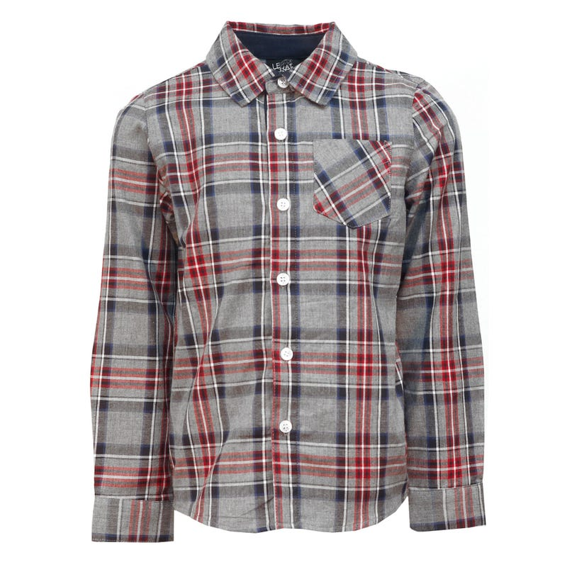 Preppy Plaid Shirt 2-8y