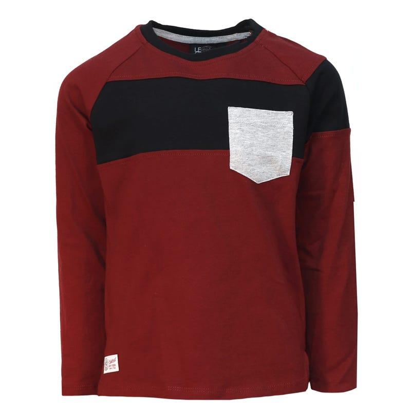 T-Shirt à Manches Longues Raglan Preppy 2-8ans