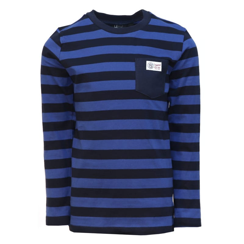 T-Shirt à Manches Longues Rayé Preppy 2-8ans