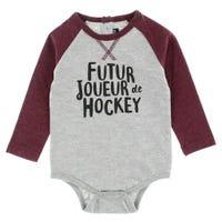 T-Shirt 1 pièce Hockey Montagne3-24mois