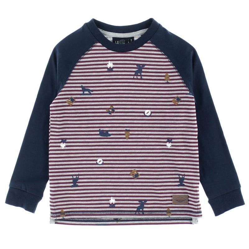 T-Shirt Rayé Raglan Parc 2-8ans