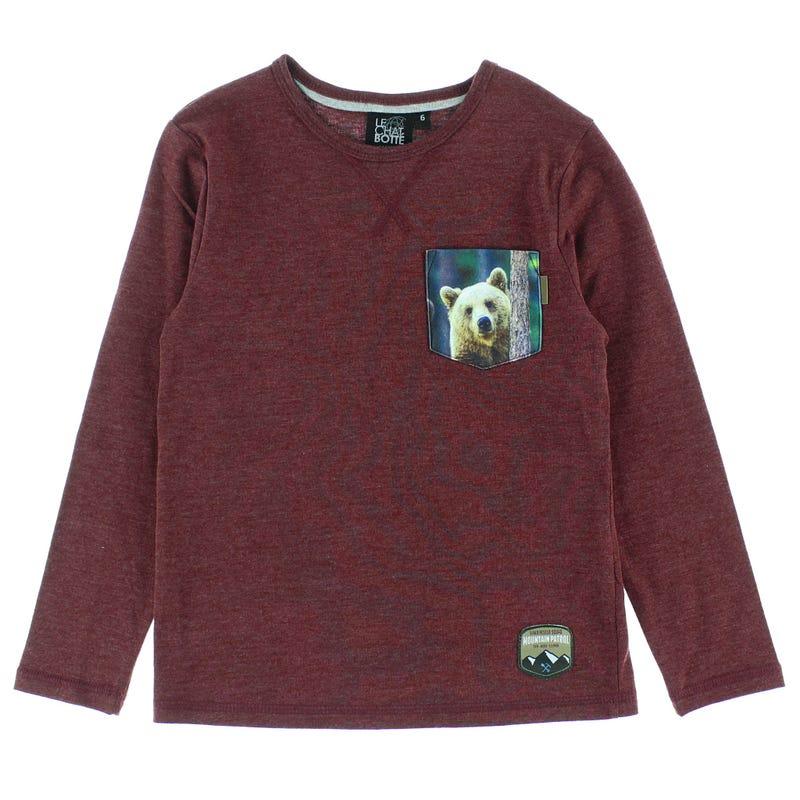 T-Shirt Poche Ours Parc 2-8ans