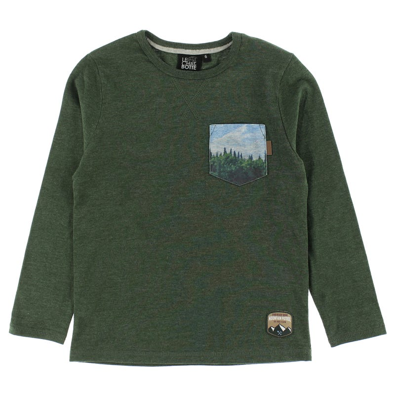 T-Shirt Poche Sapins Parc 2-8ans