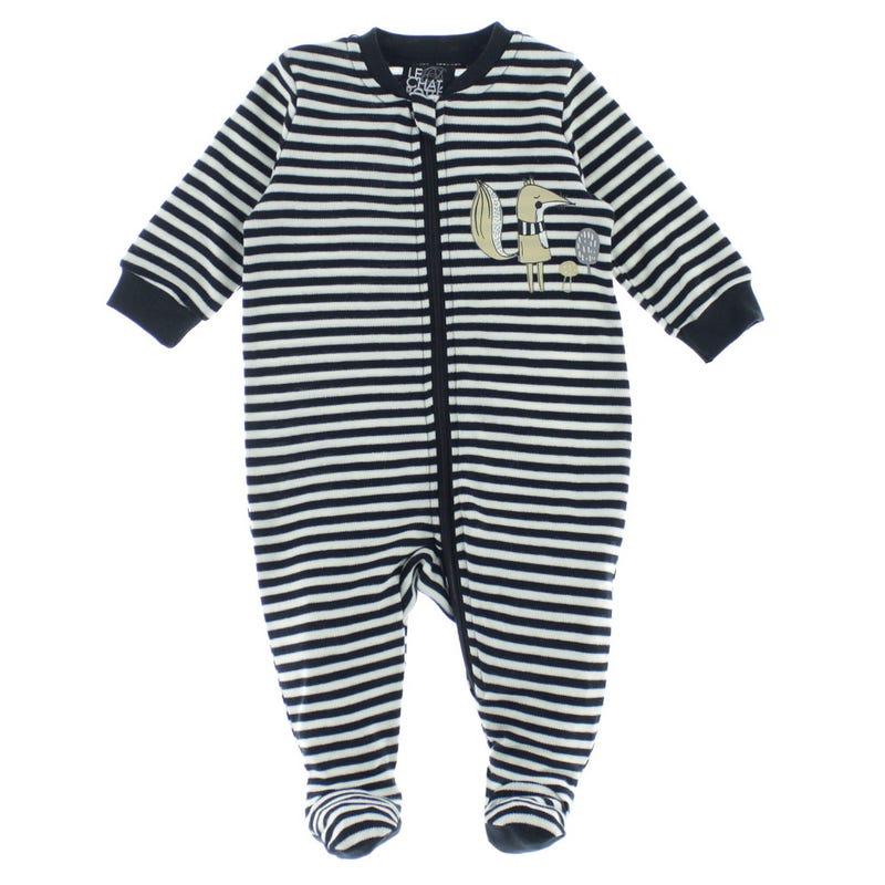 Pyjama Rayé Renard 0-30mois