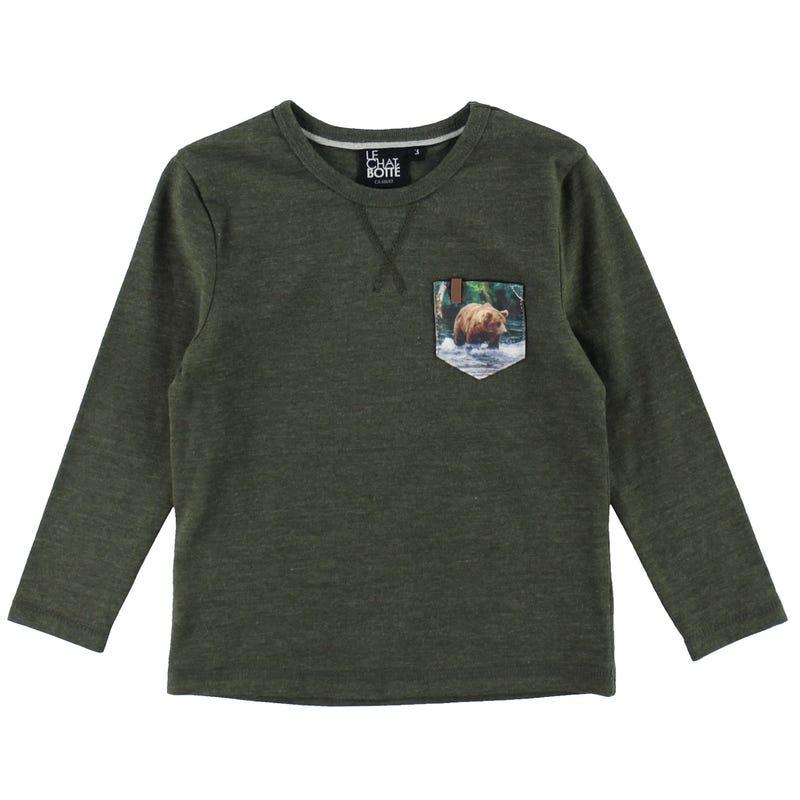 T-Shirt Poche Forêt 2-8ans