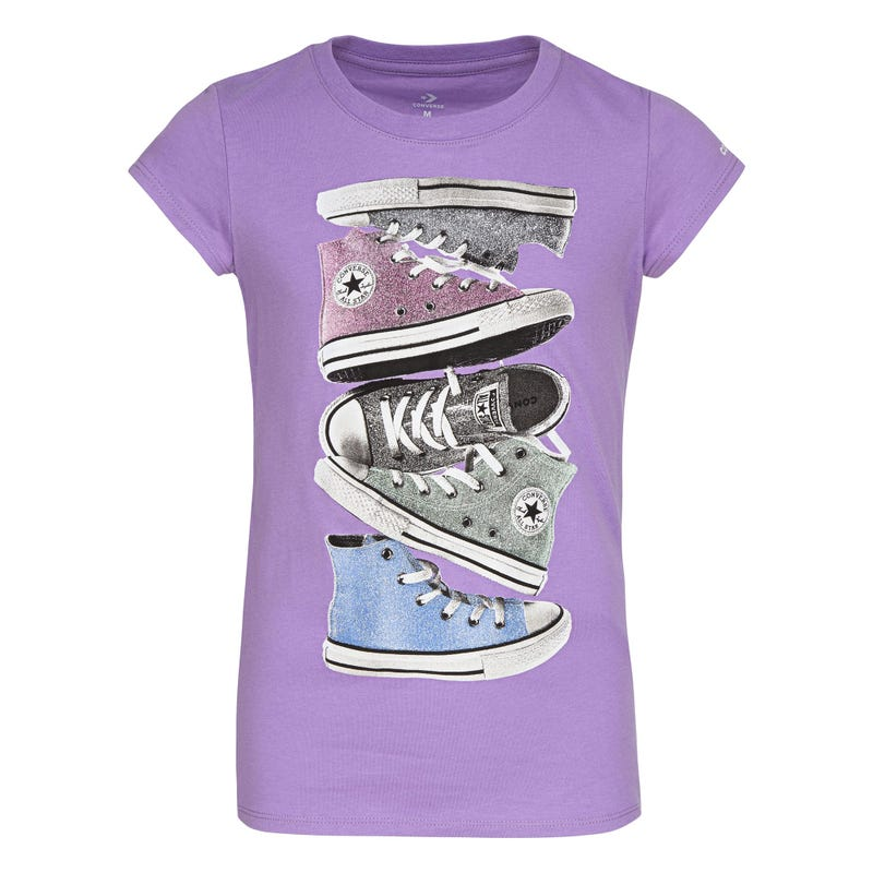 Shiny Sneaker Stack Tee 4-6X