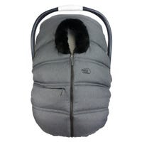 Winter Baby Car Seat Cover - Gray/Black
