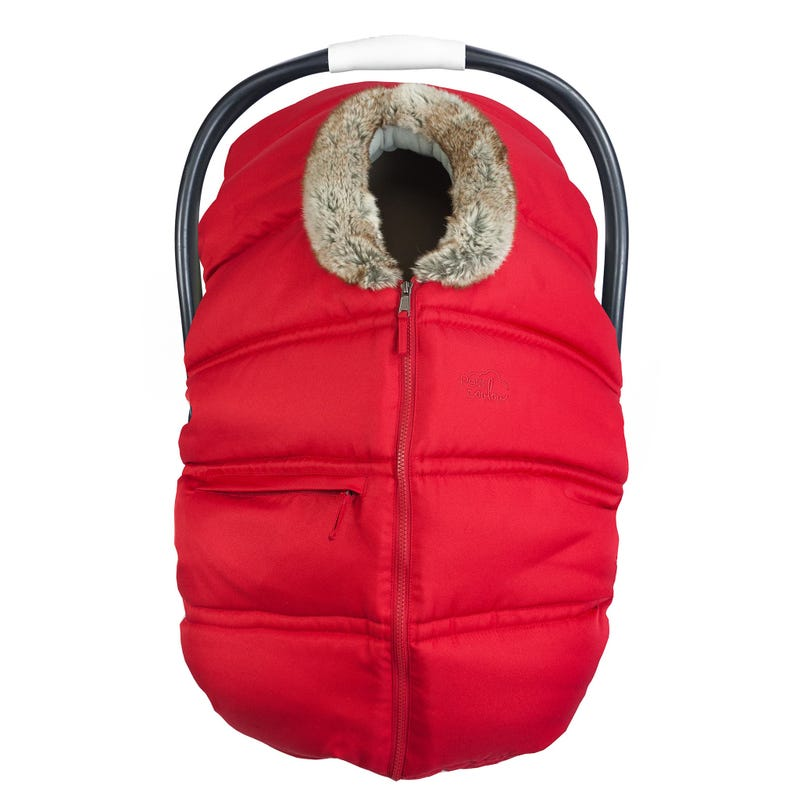 Winter Baby Car Seat Cover Red
