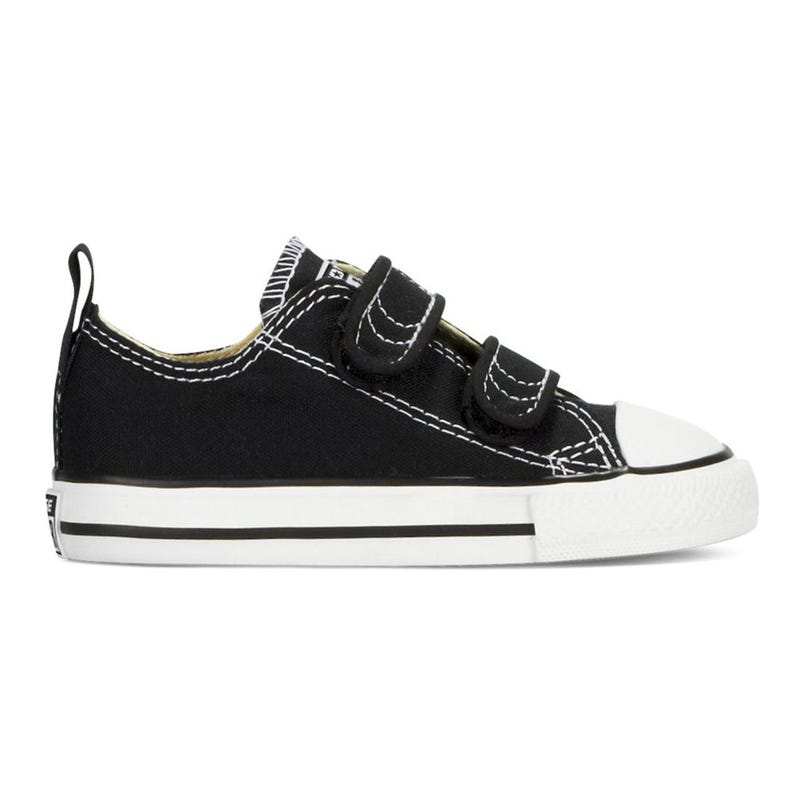 Chuck Taylor All Star Hook and Loop Low Top Sizes 4-10 - Black