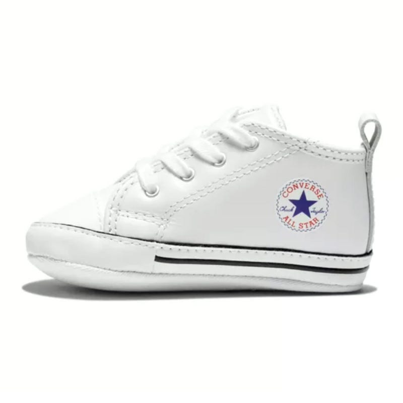 Chuck Taylor First Star Leather Sizes 1-4 - White