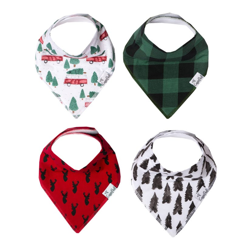 Baby Bandana Bibs Set of 4 - Christmas