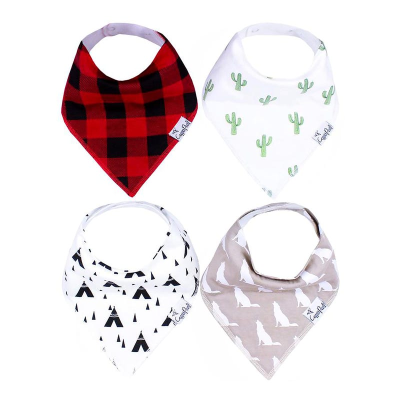 Baby Bandana Bibs Set of 4 - Phoenix